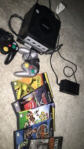 game cube with games