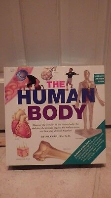 THE HUMAN BODY kit physiology book model clear organs systems MODEL GRAHAM
