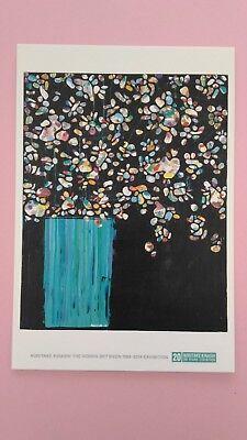 """Postcard """"Flowers"""" Japanese Artist Noritake Kinashi Free Shipping from Japan"""