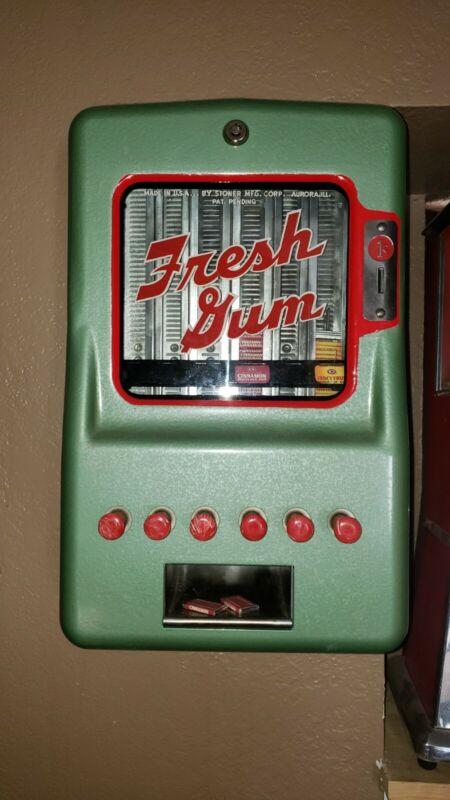 1953 stoner fresh gum machine penny vendor