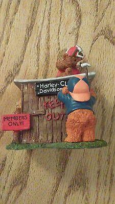 "(4128) 1997 HARLEY-DAVIDSON LITTLE CRUISERS FIGURINE ""HARLEY CLUB HOUSE"" G83009"