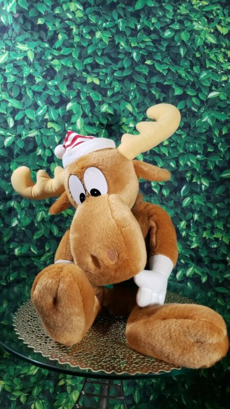 "Vintage 1996 Bullwinkle Moose Macys 24"" Plush Stuffed Animal"