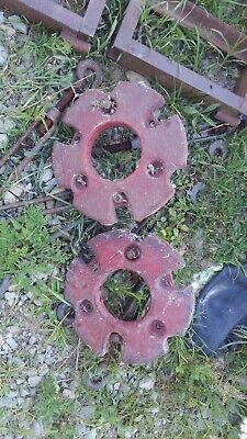 Vintage International Harvester Ih Farmall Tractor Front Wheel Weights Pairset