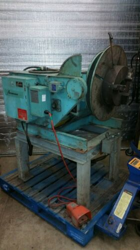"2000 LBS @ 6"" ARONSON WELDING POSITIONER w 12"" 3 jaw chuck"