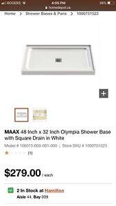"""MAAX Shower Base - 48""""x32"""" - Never Used - 200$ OFF RETAIL"""