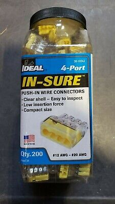 30-1034j Ideal 4 Ports Push-in Wire Connectors