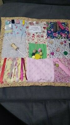 Fidget fun sensory activity blanket quilt PRETTY FLORAL fabrics