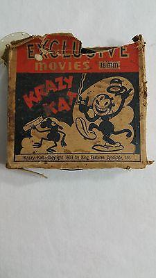 """16MM FILM KRAZY KAT """"MORNING EXERCISES"""" 1913"""