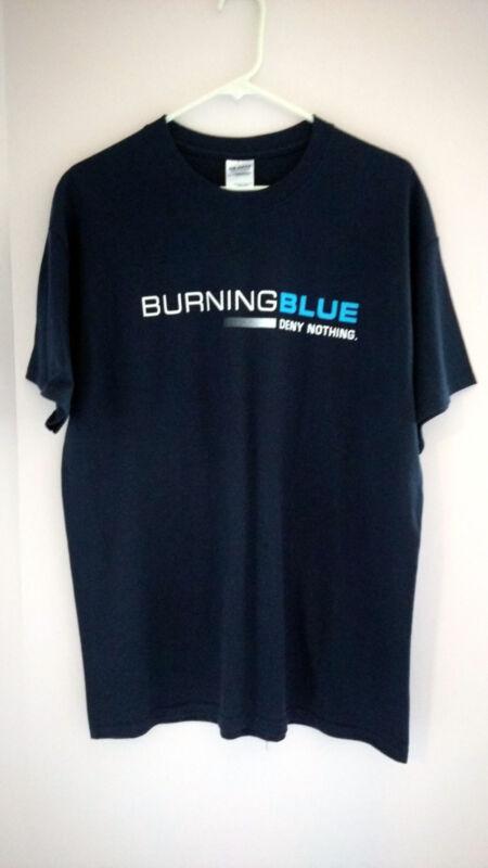 """BURNING BLUE"" Movie Promo Unisex T-Shirt -  Dark Blue - Size L - 100% Cotton"