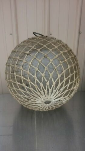 "HUGE Vintage Glass Fishing Float Ball 16"" diameter WWII USA Pittsburgh Corning"
