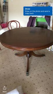 Gorgeous Large Solid Timber Claw Feet Dining Table