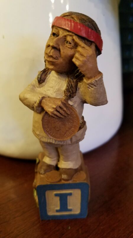 Rare - Edition# 1 - LETTER I for Indian  - Tom Clark gnome -
