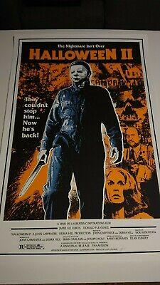 James Rheem Davis Halloween II 2 1st edition 2014 Signed Screenprint