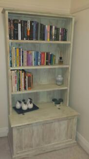 Sold Timber Stunning White Wash Bookcase With Storage Box Mosman Mosman Area Preview