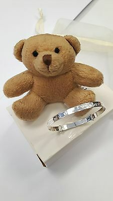 925 Sterling Silver Twinkle Twinkle Nursery Rhyme Expanding Baby Bangle