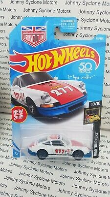 HOT WHEELS 1971 PORSCHE 911 COUPE NIGHTBURNERZ WHITE/BLUE 10/10 URBAN OUTLAW
