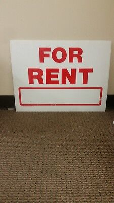 Wholesale 12 Large Yard Signs 18x24 FOR RENT 2 sided  RED Print   4mm Coroplast
