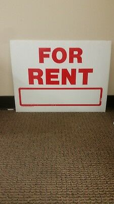 Wholesale 24Large Yard Signs 18x24 FOR RENT 2 sided  RED Print   4mm Coroplast