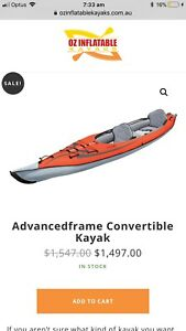 Advanced frame inflatable kayak - Double or single 15ft