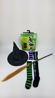 Cool Band Halloween Costumes (Wicked Cool Witch Junior Size M Halloween Accessories Hat Arm Bands Socks)