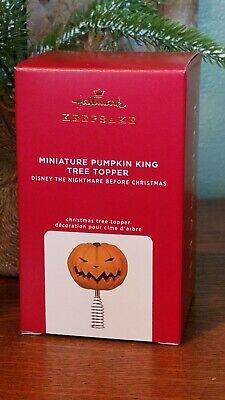 """2021 Hallmark Ornament """"MINIATURE PUMPKIN KING TREE TOPPER"""" DISNEY"""