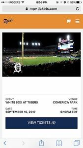 Detroit Tigers tickets 09/16/2017