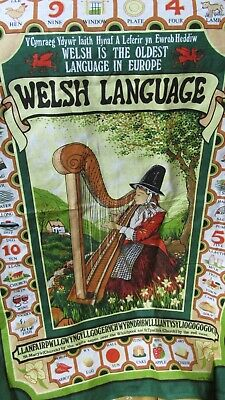 """""WELSH LANGUAGE - COTTON TEA TOWEL"""" - NWOT"