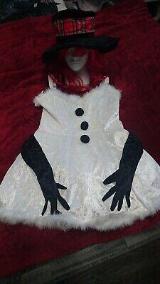 Halloween Kostüm Schneefrau Kostüm (entsprechend Größe 38) - Schnee Weisse Frau Kostüme