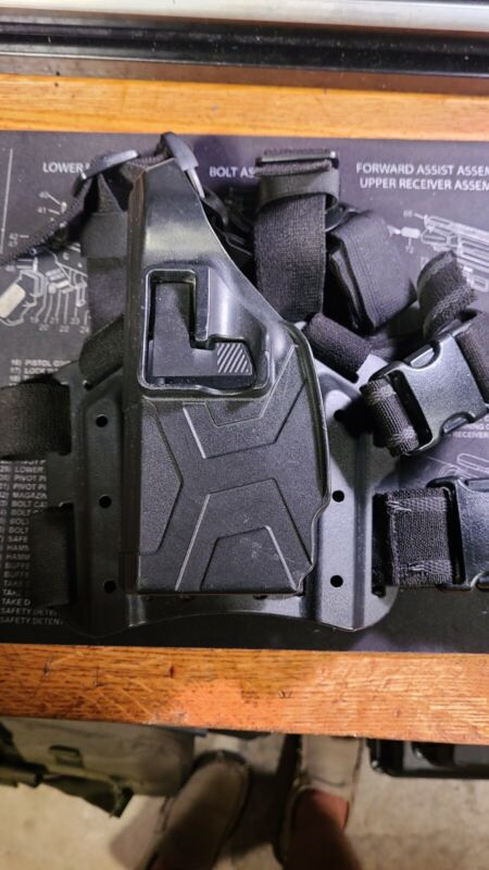 Blackhawk Taser CQC Holster for X2 with thigh rig.