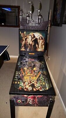 ZIZZLE Pirates of the Caribbean Dead Man's Chest Pinball Machine RARE TOPPER