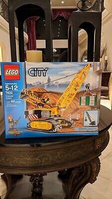 Rare! NEW NIB Lego City 7632 Crawler Crane 481 pieces. Box looks nice!!