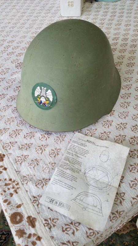 Yugoslavia/Serbian M59/85 military helmet, Serbia Bosnia