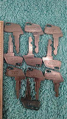 Mixed Lot Of 10 Tec Cash Register Keysplease Read Description For Numbers