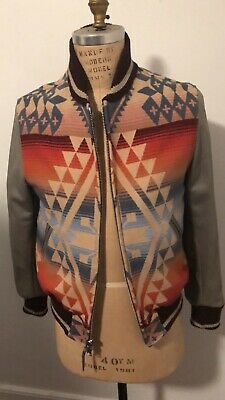Golden Bear X UNIONMADE Wool Leather Varsity Jacket sz Medium Monte Rio
