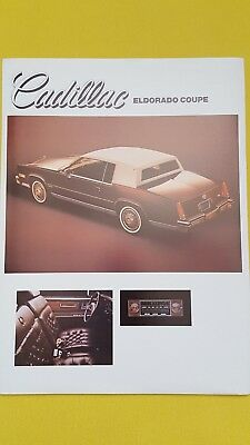 Cadillac Eldorado & Seville sales brochure catalogue x 2 March 1983 RARE MINT
