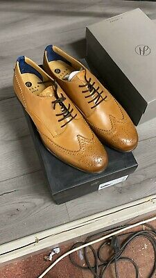 BNIB Mens H By Hudson Indus Shoes In Tan Leather UK10
