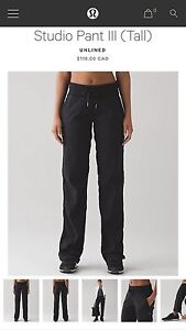 Lululemon Dance Studio Pants (TALL) size 10