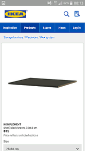Ikea komplement pax wardrobe shelves chocolate brown x 10 Little Bay Eastern Suburbs Preview