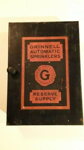 Grinnell Vintage Industrial Fire Sprinkler Head Supply Box     PROP