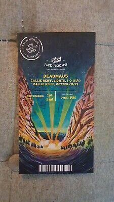 Deadmau5 Red Rocks Collector Series Ticket 11/1-11/2, 2019 Design 3 of 4