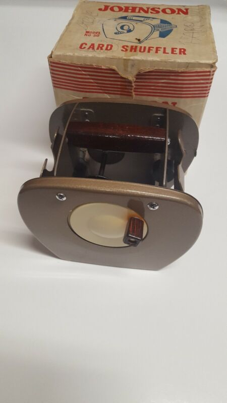 Johnson Card Shuffler Vintage Blackjack Poker Casino Canasta Model 50 USA