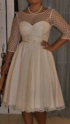 Exklusives Brautkleid (hochzeitskleid brautkleid standesamtkleid nude creme exklusiv Design )