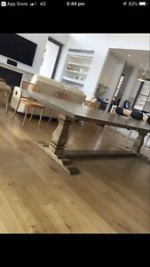 Parquetry Oak Refectory Style Table Yarraville Maribyrnong Area Preview
