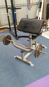 Preacher curl station with bar Charlestown Lake Macquarie Area Preview