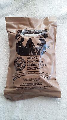 MRE U.S RATION PACK MENU 8, CAMPING, HIKING, FISHING,AIRSOFT,SURVIVAL