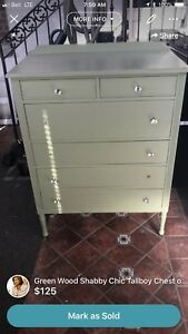 Shabby Chic Tallboy Chest Dresser