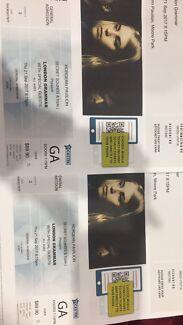 Selling 2 London grammar tickets $90