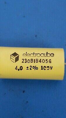 Capacitor Metalized 230B1B405G, Electrocube 100V 4uf, 2%, (2 Pcs)