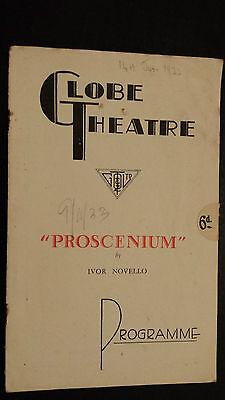 "1933 GLOBE THEATRE PROGRAMME - ""PROSCENIUM"" BY IVOR NOVELLO"