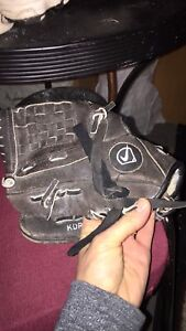 """Nike 10"""" right handed ball glove and cleats"""